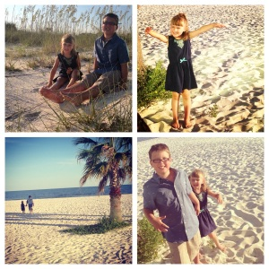 The last two summer vacations involved a beach front condo on the Gulf Coast. Making memories...