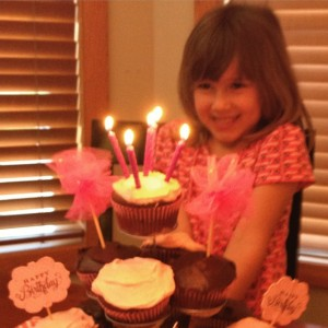 "When asked what she wanted for her birthday, Lauren replied, ""Cupcakes!"""
